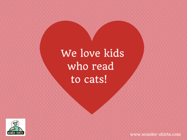 We love kids who read to cats!